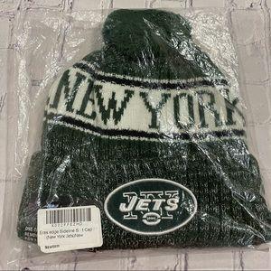 NEW ERA NEW YORK JETS KNIT CAP GREEN OS